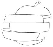 Giardino delizioso - mela affettata 1 Fotografie Stock Libere da Diritti
