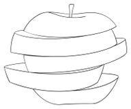 Giardino delizioso - mela affettata 3 Fotografie Stock Libere da Diritti