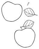 Giardino delizioso - mela della costruzione del cuore Fotografia Stock