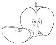 Giardino delizioso - a metà della mela e di una fetta Immagini Stock