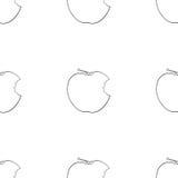 Giardino delizioso - modello senza cuciture della mela pungente Immagine Stock