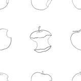 Giardino delizioso - modello senza cuciture delle mele pungenti Immagine Stock Libera da Diritti