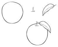 Giardino delizioso - Nizza mela rotonda con una foglia Immagini Stock