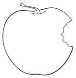 Giardino delizioso - vista laterale della mela pungente Immagine Stock Libera da Diritti