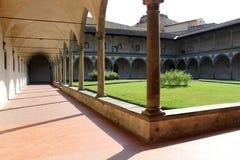 Giardino della chiesa a Firenze Immagine Stock