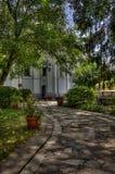 Giardino della chiesa in Pereyaslav Fotografie Stock Libere da Diritti