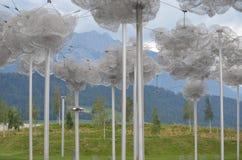 giardino della fabbrica di swarovski delle nuvole Immagini Stock
