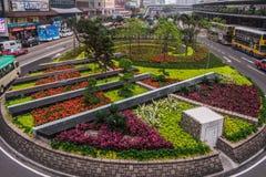 Giardino della rotonda al quadrato di scambio su Hong Kong Island, Cina immagine stock libera da diritti