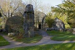 Giardino della st Fiachra di pietra delle capanne fotografia stock