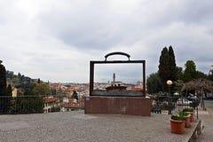 Giardino delle rosa Florence arkivfoton