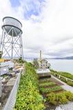 Giardino di Alcatraz & torre di acqua, San Francisco, California Immagine Stock