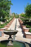 Giardino di Alcazaba di Almeria in Andalusia, Spagna, un giorno soleggiato Immagine Stock Libera da Diritti