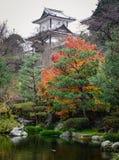 Giardino di autunno a Kanazawa, Giappone Fotografia Stock