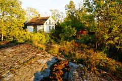 Giardino di autunno in Stangnes, Norvegia Fotografie Stock