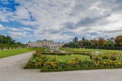 Giardino di belvedere, Vienna fotografia stock