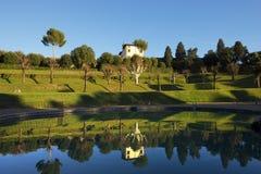 Giardino di Boboli (Boboli trädgårdar) i Florence Italy royaltyfria bilder