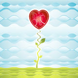 Giardino di cuore, vettore Immagini Stock