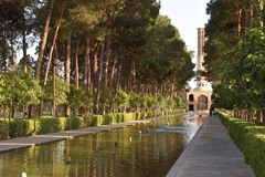 Giardino di Dowlat Abad in Yazd, Iran immagini stock libere da diritti