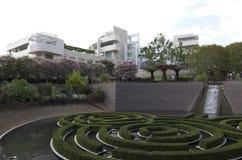 Giardino di esterno del museo di Getty Immagini Stock Libere da Diritti