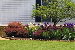 Giardino di fiore residenziale Immagine Stock Libera da Diritti