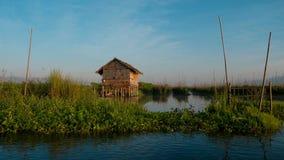Giardino di galleggiamento sul lago Inle, lo Stato Shan Myanmar Fotografia Stock