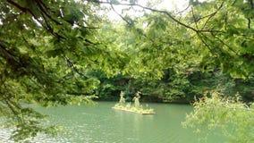 Giardino di galleggiamento sul terzo lago immagini stock