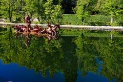 Giardino di Granja de San Ildefonso della La Fotografia Stock