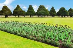 Giardino di Hampton Court in primavera, Londra, Regno Unito immagine stock