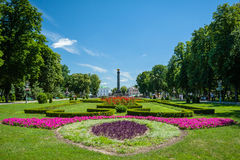 Giardino di Korpusny a Poltava Fotografia Stock Libera da Diritti