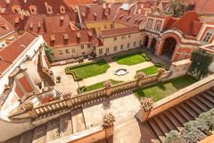Giardino di Ledeburg sotto il castello di Praga Fotografia Stock Libera da Diritti