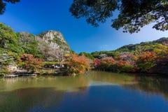Giardino di Mifuneyama Rakuen nella saga Fotografia Stock Libera da Diritti