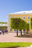 Giardino di Peterhof in San Pietroburgo, Russia. Fotografia Stock Libera da Diritti