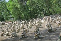 Giardino di roccia chandigarh India immagini stock