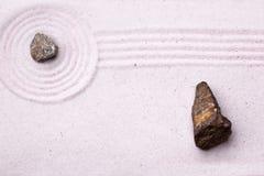 Giardino di roccia di zen Immagini Stock Libere da Diritti
