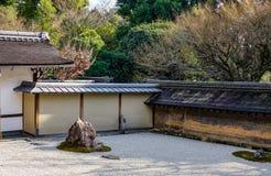 Giardino di roccia a Kyoto, Giappone Fotografia Stock Libera da Diritti