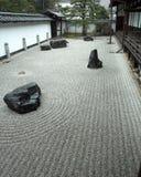 Giardino di roccia a Kyoto, Giappone Fotografia Stock