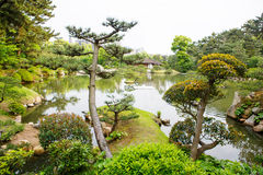 Giardino di stile giapponese a Hiroshima, Giappone Fotografia Stock Libera da Diritti