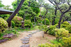 Giardino di stile giapponese nel Giappone fotografie stock libere da diritti