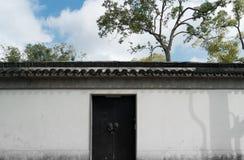 Giardino di Suzhou, architettura tradizionale Fotografie Stock Libere da Diritti