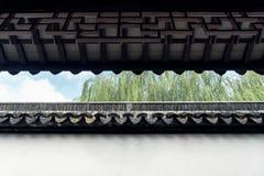 Giardino di Suzhou, architettura tradizionale Fotografia Stock Libera da Diritti