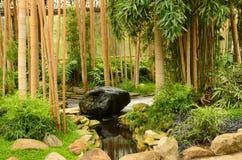 Giardino di zen di rilassamento Fotografie Stock Libere da Diritti