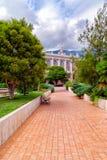 Giardino e casinò di Monte Carlo al Monaco immagine stock libera da diritti