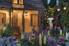 Giardino floreale del cortile fotografia stock libera da diritti