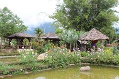 Giardino floreale a Doi Luang Fotografie Stock Libere da Diritti