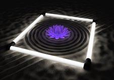 Giardino futuristico di zen Fotografia Stock