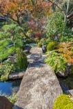 Giardino giapponese al tempio di Hasedera a Kamakura Fotografia Stock