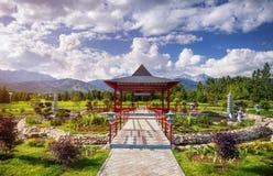Giardino giapponese a Almaty Fotografia Stock Libera da Diritti