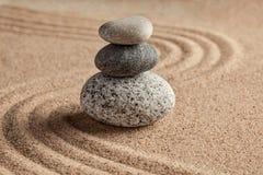 Giardino giapponese della pietra di zen Fotografie Stock Libere da Diritti