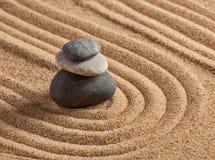Giardino giapponese della pietra di zen Immagine Stock Libera da Diritti