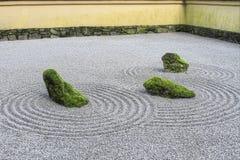 Giardino giapponese della sabbia di zen Fotografia Stock Libera da Diritti